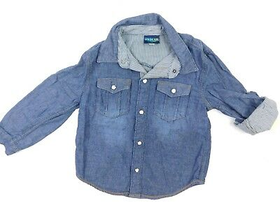 Genuine Kids OshKosk Boys Medium Denim Wash Long Sleeve Shirt 4T (Boys Long Sleeve Denim Shirt)
