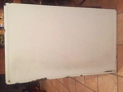 40 x 25 White Porcelain Table Top Kitchen Cupboard Hoosier Enamel Vintage