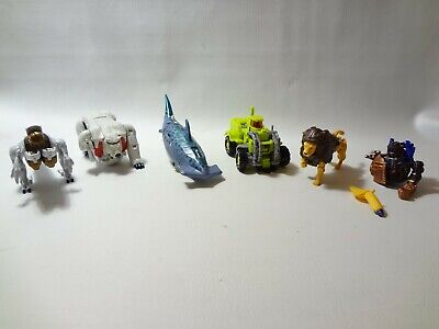transformers beast wars lot cybershark prowl polar claw Incomplete 90s