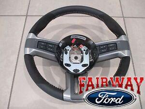 10 thru 14 Mustang OEM Ford Alcantara Suede Leather Steering Wheel Shelby GT500