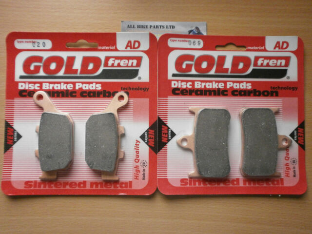 FRONT & REAR CERAMIC BRAKE PADS for: HONDA CB 250 HORNET CB250 GOLDFREN CB250
