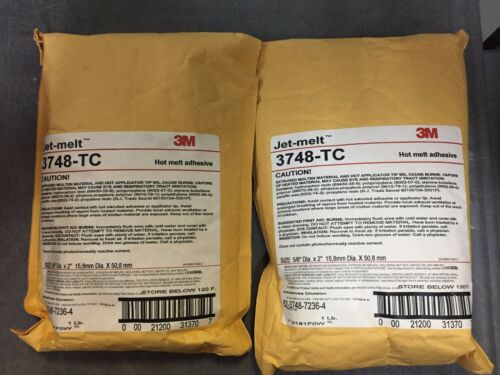 3M JET MELT 3748-TC 5/8 in x 2 in Hot Melt Adhesive  (1LB BAGS) Qty 2