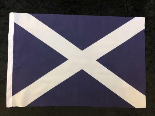 "Scotland St Andrews Saltire Navy 18"" x 12"" Hand Waving Sleeved Polyester Flag"