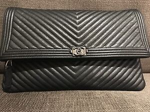 Pre-owned Chanel Pouch Burwood Burwood Area Preview