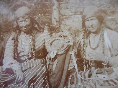 Historical Couple (Native American Indian Original Historic Photo Two Spirit Couple &)