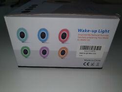 Wake Up Light Alarm Clock w/Night Light,Touch Control, 6 Natural Sounds,FM Radio
