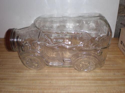 VINTAGE LIBBEY GLASS LARGE GLASS CAR PLANT TERRARIUM 5 GALLON MODEL T