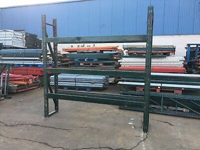 3 Sections Pallet Rack 20d X 8t X 24l Slotted Style 4 Uprights 12 Beams