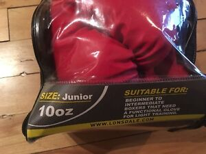 Boxing gloves for youth in original package