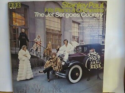 STANLEY PAUL HIS PIANO & ORCHESTRA THE JET SET GOES COUNTRY LP GRT 30006 N/M