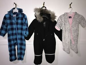 Snowsuits! Great for in car seat!