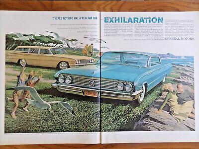 1961 Buick Special Wagon & Le Sabre Ad On Rock-bound Oregon Coast