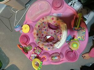"Pink ""Tea with me"" Exersaucer"