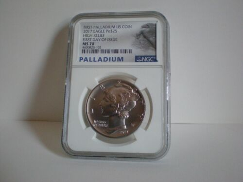 2017 PALLADIUM AMERICAN EAGLE COIN NGC MS70 FIRST DAY OF ISSUE