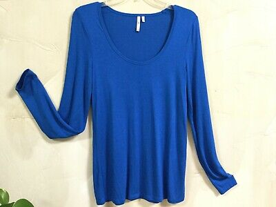 Usado, Banana Republic Womens Siz S 4 / 6 Signature Tee Top Pullover Blouse Royal Blue  comprar usado  Enviando para Brazil