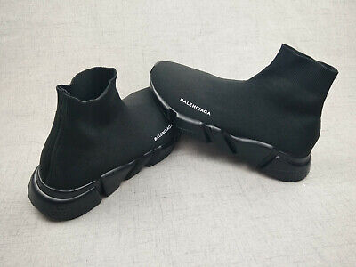 Hot sale Shoe Balenciaga Speed Trainer Runner Men's Size12 Black as the picture