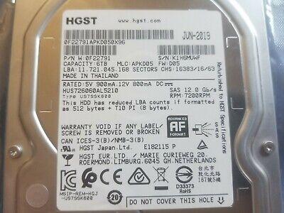 6TB Super Fast SAS 12GB/s HGST Ultrastar HE8, RPM,3.5 inch (0F22791) Hard Drive