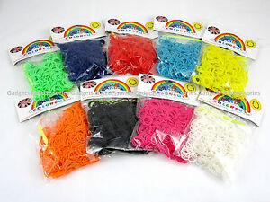 600-PCS-LOOM-BANDS-Refill-Rubber-Rainbow-Bracelet-Making-S-Clips-Twistz-Bandz