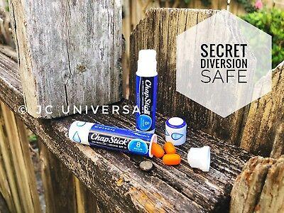 Chap Stick Secret Diversion Safe Stash Can /Pill Box Hidden Hiding Compartment
