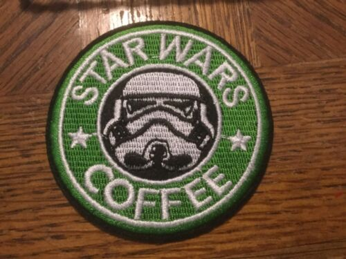 """Stormtrooper STAR WARS Coffee Embroidered 3"""" Green Patch"""