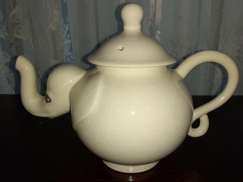 Carlton Ware White Elephant Teapot Excellent Condition