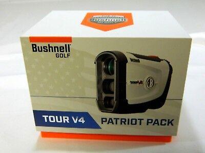Brand New Bushnell Tour V4 Patriot Pack Golf Laser Rangefinder with Jolt V-4