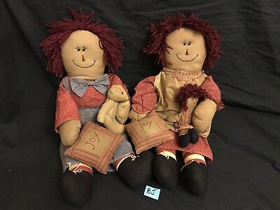 "Unicorn Merchandise (Raggedy Ann and Raggedy Andy 21"" Dolls  Unicorn Merchandise Corp Rag Bean)"