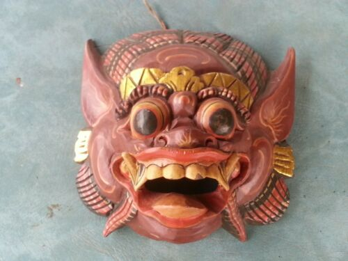 Vintage Balinese Hand Carved Mask