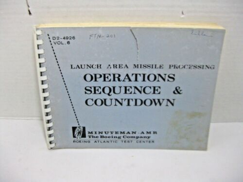 Minuteman ARM Boeing Company Operations Sequence and Countdown DR-4926 Vol 6-201