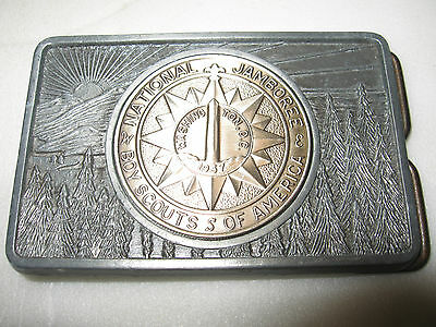 vintage 1937 national boy scouts jamboree belt buckle BSA america washington DC