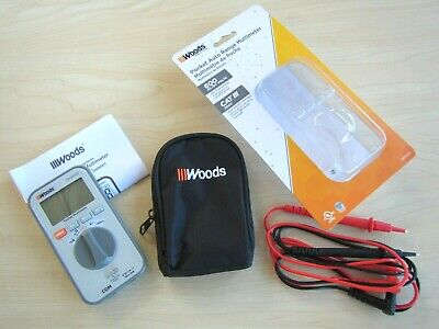 New Woods Pocket Auto Range Multimeter 600 Acdc Volts Cat Iii Tool Power