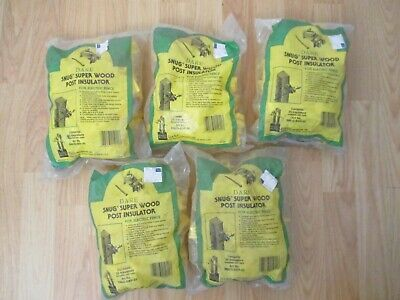 Dare Snug-swp-25 Snug Wood Post Insulator 5 Packages Of 25 125 Total - Nos