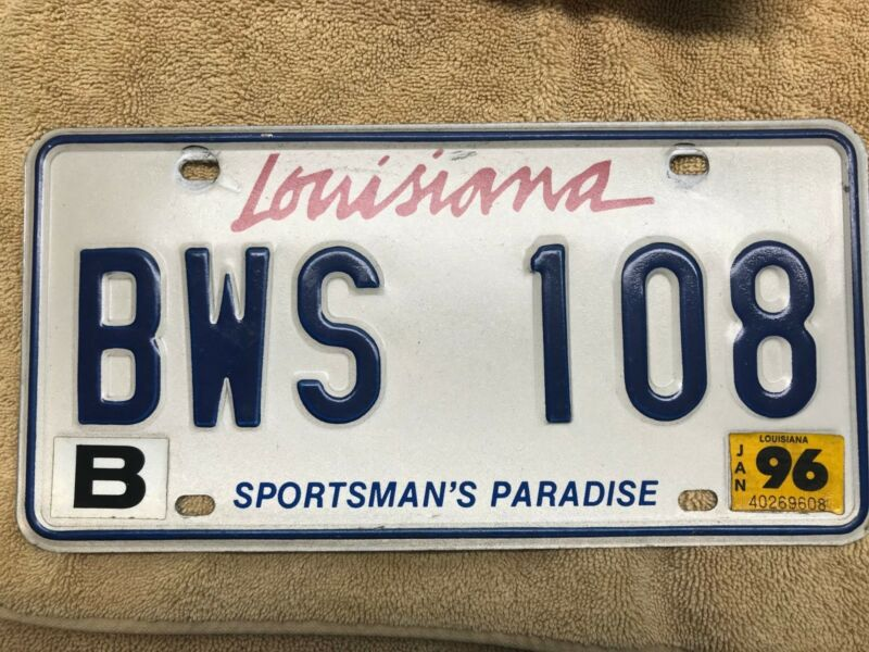Louisiana license plate BWS 108