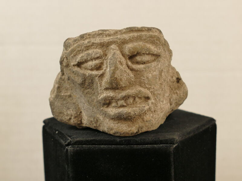 MAYAN LATE CLASSIC TERRACOTTA HEAD #2 COLLECTED 1950