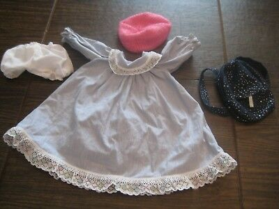 Retired American Girl Fashion Show Pink Hat Dress Backpack Bloomers Outfit Set