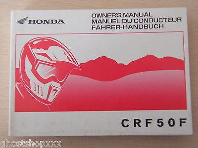 Image of 00X37 GEL 6101 Manuel Utilisation et Entretien Honda CRF50F