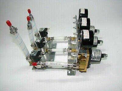 3-cornelius 857a Compressed Gas Regulator Assembly W Guages Solenoids Etc.