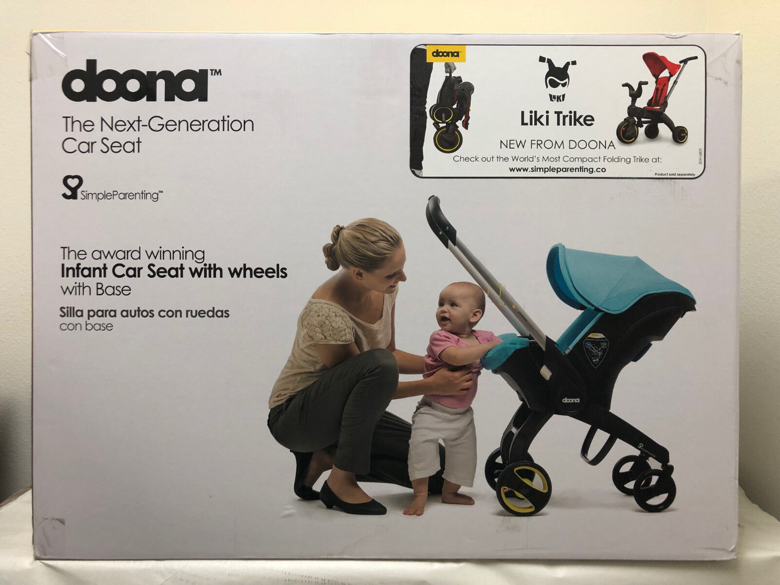 Doona Infant Baby Car Seat Travel Stroller Marine Navy with