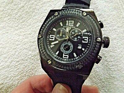 Swiss Legend Throttle Chronograph Black Dial, Black Case, Black Strap Watch