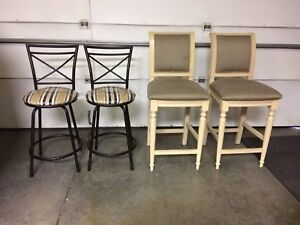 Bar stools 4 piece $100 for all Obo