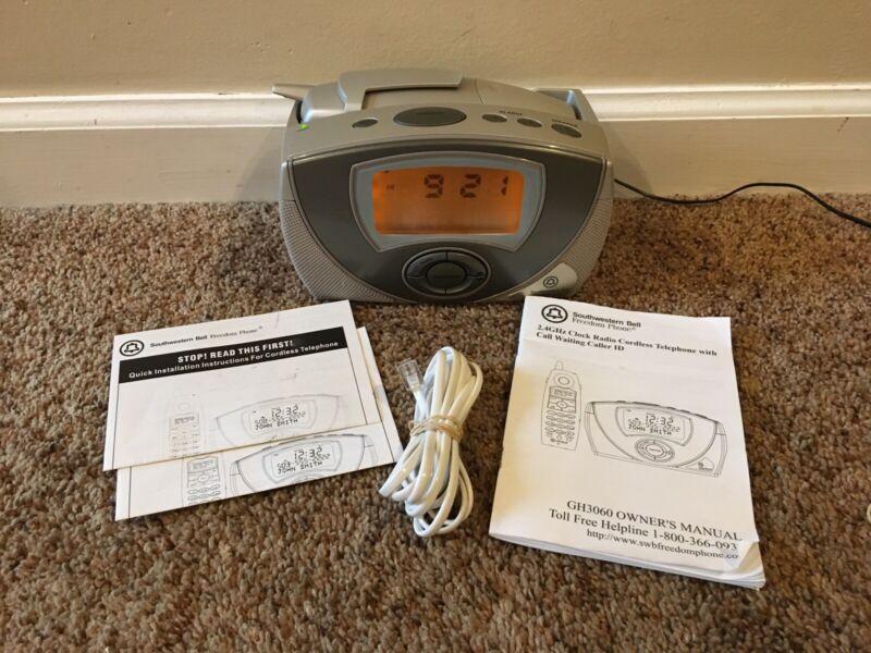 Southwestern Bell Freedom Phone Caller ID Clock Radio Cordless Telephone #15
