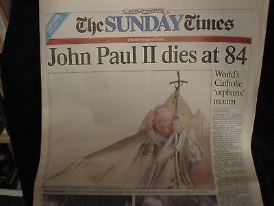 John Paul Ii Dies At 84    April 3  2005 Washington Times Complete Newspaper