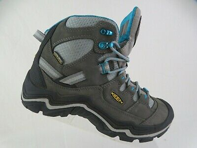 KEEN Durand Mid Waterproof Grey Sz 7 M Women Hiking Boots Grey Hiking Boots