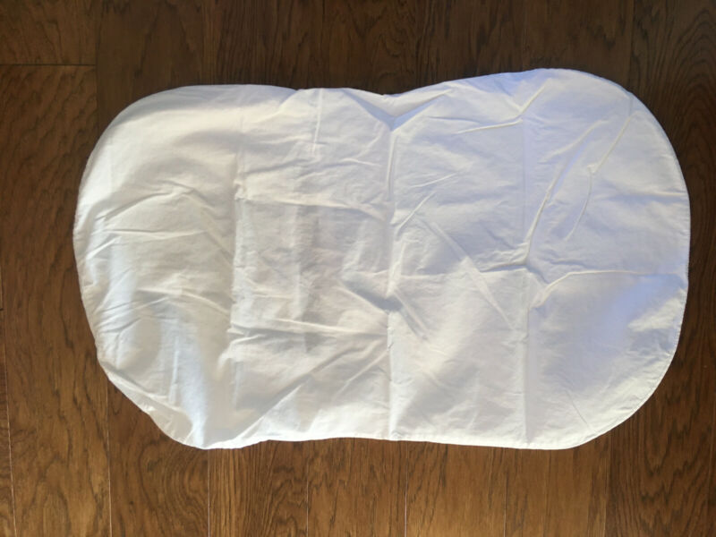 Halo Bassinet 100% Cotton Fitted Sheet White. Pre-owned