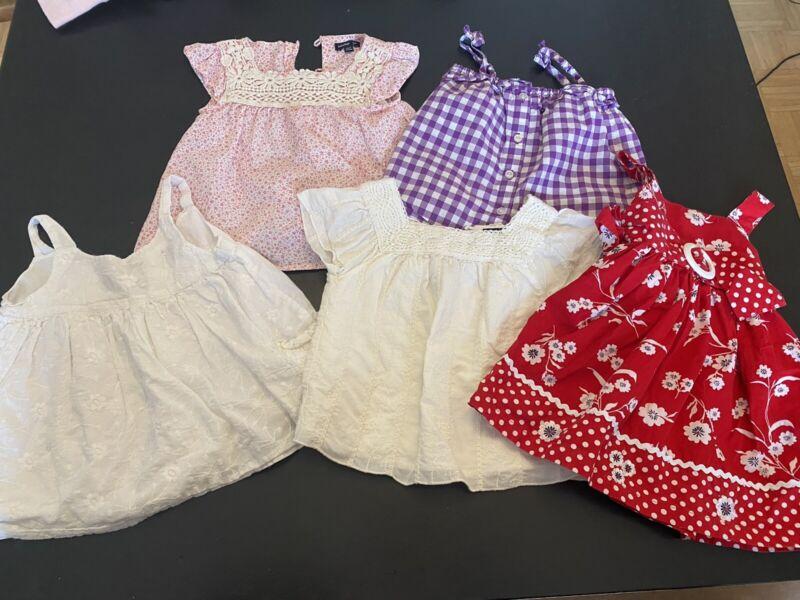 Baby Gap Lot Girl 18-24 Months Dress Tops Shirts Summer