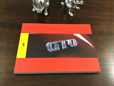 FERRARI 599 GTO OWNERS MANUAL HANDBOOK - 3690/10 - FIRST EDITION