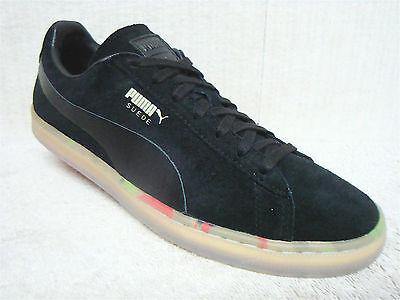 PUMA SUEDE CLASSIC V2 363240 02 Men's Casual Athletic Shoes Black Size 10
