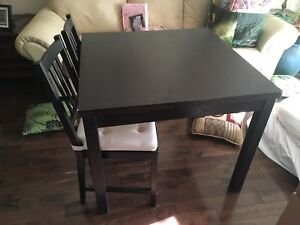 IKEA extendible table with 4 chairs