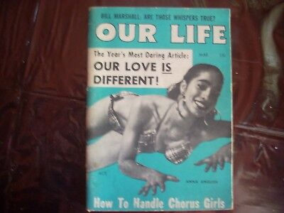 Rare our Life magizine march 1955 Free domestic shipping no reserve