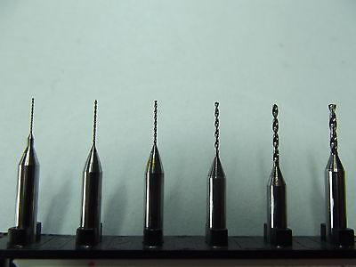 50 Stück Hartmetall Bohrer + 0,3 -1,2 mm + Modellbau + Dremel + Proxxon + CNC